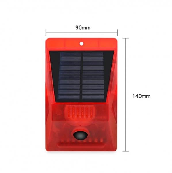 Световая звуковая сигнализация на солнечной батарее, с датчиком движения Warning Light RV-02, с пультом управления