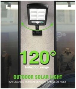 Светодиодный уличный светильник YG-1422 с датчиком движения на солнечной батарее , 6 светодиодных секций 120 led_3
