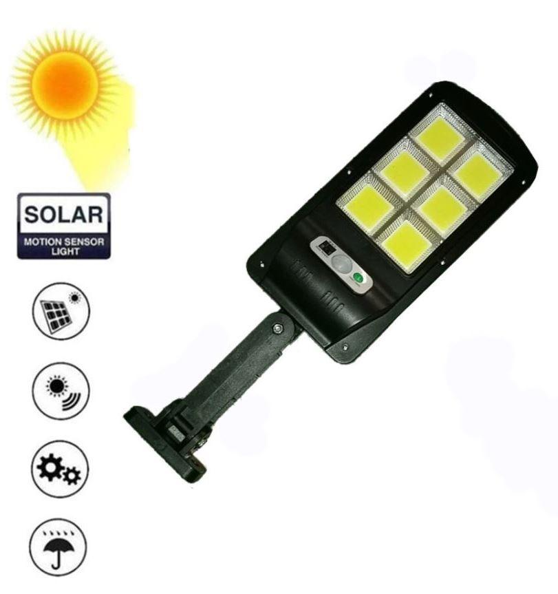 Светодиодный уличный светильник YG-1422 с датчиком движения на солнечной батарее , 6 светодиодных секций 120 led